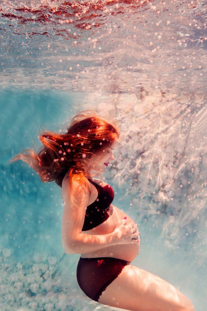 zwanger onderwater