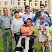 familiefoto voor chateau st. gerlach