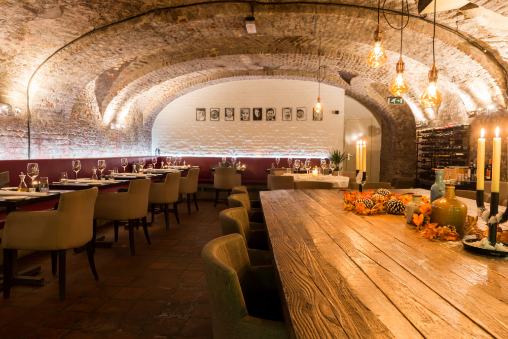 Interieur van het restaurant Le Bon Vivant