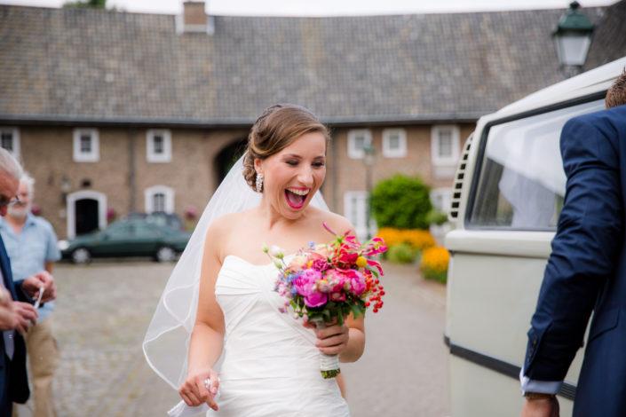 bruid heeft er zin in