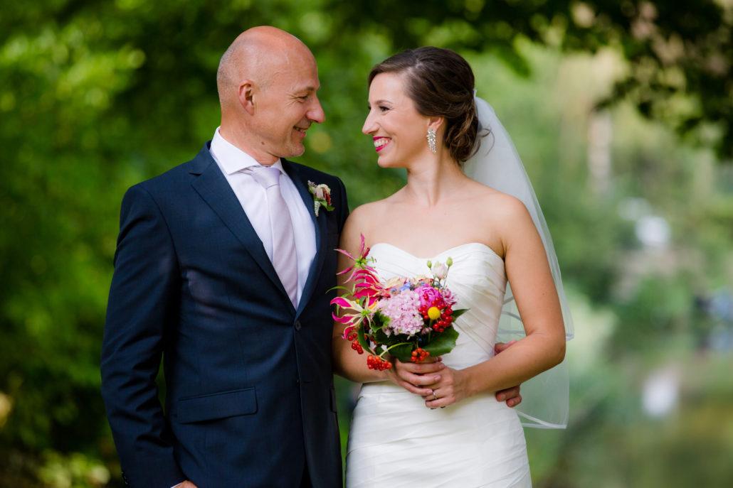 vader bruid en bruid